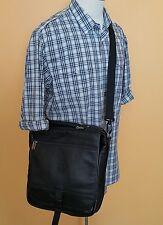 Roots Canada Leather Shoulder Bag Messenger Bag