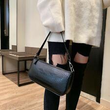 Womens Leather Crocodile Shoulder Bag Underarm Bag Tote Handbag Crossbody Bag