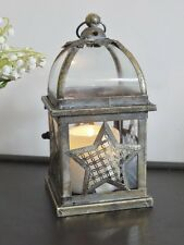 ANTIQUE STYLE STAR  METAL LANTERN CANDLE HOLDER CHRISTMAS