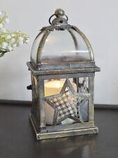 Stile Antico Stella In Metallo lanterna portacandele NATALE