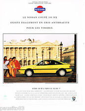 PUBLICITE ADVERTISING 065  1992  NISSAN  100 NX COUPE