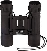 Black Military 10 x 25 MM Compact Zoom Binoculars