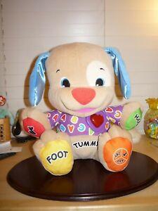 FisherPrice stuffed dog toddler/preschool/daycare battery operated educational t
