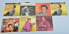 Lot of 6 1950s Elvis Presley 45 RPM Records with Original Sleeves!