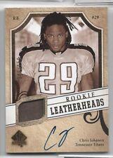 Chris Johnson 2008 SP Rookie Leatherhead AUTO Vintage Card RC Autograph