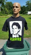 Charlie Sheen Winning T-shirt 2011 Two and a half men Size Large