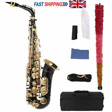 More details for eb alto saxophone brass lacquered gold e flat sax 82z woodwind instrument t9k2