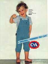 PUBLICITE ADVERTISING 045  1982  C & A   vetements enfants salopette garçon