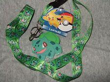 Pokemon Go Bulbasaur Lanyard Keychain Detachable And Rubber Charm Anime Nintendo