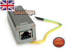 Dispositivo de red Ethernet RJ45 Adaptador de RJ-45 protector contra sobrecarga rayos pararrayos