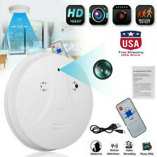 Mini HD 1080P SPY Camera Hidden Smoke Detector Motion Detection Nanny Cam DVR US