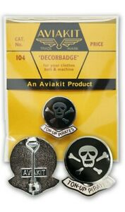 Ton Up Pirates Badges by Aviakit Lewis Leathers