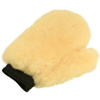 Lambswool Sheepskin Glove Car Cleaning Washing Wash Mitt Thumb Sponge Soft Wool