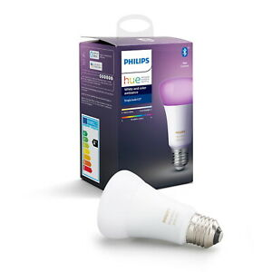 Philips Hue  E27 Smart Bulb White and Colour Ambiance 470 Lumen Colour Changing