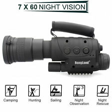 Hunting Infrared Night Vision IR Monocular Telescopes CCD 7x60 DVR Record + Gift