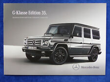 Mercedes-Benz G-Klasse Edition 35 G 500 Sondermodell - Prospekt Brochure 08.2014