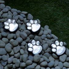 LED Solar Power Paw Animal Prints Lights Garden Outdoor Lamp Path Landscape New