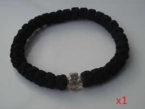 1x serbian orthodox black church bracelet greek ,russian chotki