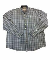 Camel Active regular fit cotton shirt in grey/green/blue check XXL