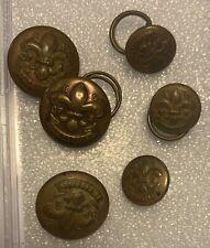 1910 Boy Scout Buttons original Bsa 1910 Near Complete Set. Rare (5-