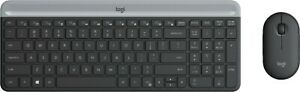 Logitech - MK470 Slim Wireless Mouse and Keyboard Combo - Black/Gray