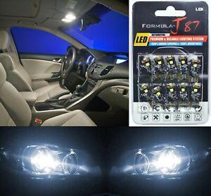 Canbus Error LED Light 168 White 5000K Ten Bulbs Front Side Marker Upgrade Fit