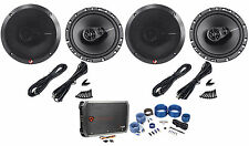 "(2) Pairs Of Rockford Fosgate R165X3 6.5"" 3-Way Car Speakers+ Amplifier+Amp Kit"