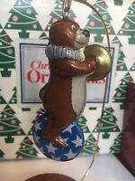 Big Top Oso Juguetes ' De Estaño Navidad Sello Recuerdo Ornamento Nuevo en Caja