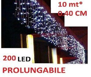 Tenda Luminosa Natalizia NATALE LUCI 10m x40cm 200 led PROLUNGABILE VARI GIOCHI