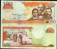 DOMINICAN REPUBLIC 100 PESOS 2013 P 184 UNC