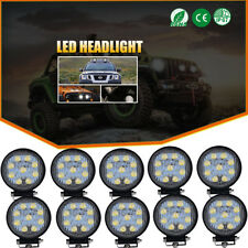 10x 4INCH 27W CREE LED WORK LIGHT BAR SPOT BEAM DRIVING JEEP TRUCK SUV ATV UTE