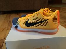 Nike Kobe X 10 Elite Low Chester Cheetah Orange Black Laser 747212 818 Size 8