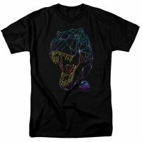 Jurassic Park Neon T-Rex T Shirt Mens Licensed Dinosaur Movie Tee Black