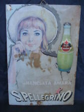 Insegna cartello Aranciata San Pellegrino Roy Vercelli old vintage sign