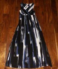 Matty M Women's Maxi Dress Cobalt Stripe US Size XS