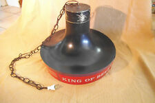 Vintage Budweiser King of Beers Hanging Ceiling Pool Table Lamp Light