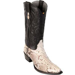 LOS ALTOS MEN NATURAL GENUINE PYTHON SNAKE COWBOY SNIP-TOE BOOT 945749 (D)