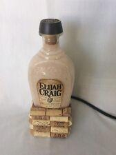 Elijah Craig Kentucky Straight Bourbon Whiskey Bottle Lamp 16 Color Changing LED