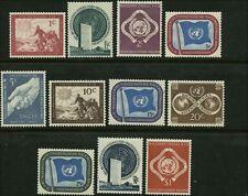 UN Scott #1-#11 Complete Set of 11 Mint