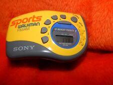 Sony Sports Walkman  AM FM With Wristband Yellow Gray Black