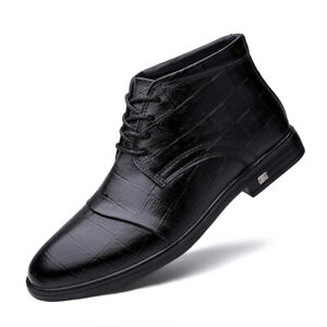 Fall Winter Mens Ankle Boots Shoes pumps Fur Inside Warm Buisness Sports Casual