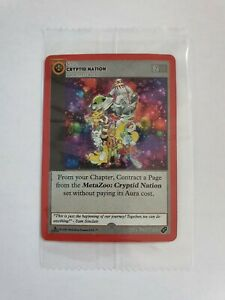 Metazoo Cryptid Nation 1st Edition 1x (ONE) Spellbook Promo SEALED IN HAND UK