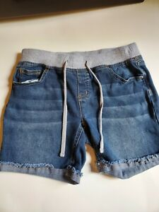 Justice Girls 12 R Pull-On Blue Jeans Mid Length Denim Shorts EUC