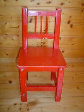 Alter Kinderstuhl, Rot, Holz
