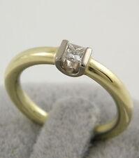 Reinheit VS Solitäre Echte Diamanten-Ringe aus mehrfarbigem Gold mit Brilliantschliff