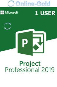 MS Microsoft Project 2019 Professional (1 Nutzer) - Vollversion 32/64 Bit Global
