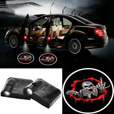2pcs LED Car Door Logo Laser Projector Welcome Ghost Shadow Light For Skull New#