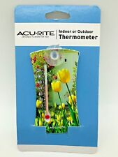 AcuRite Mini Thermometer Window Suction Cup Mount Indoor Outdoor Temperature