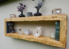 Floating shelf rustic reclaimed storage bookcase display unit wall cube wood