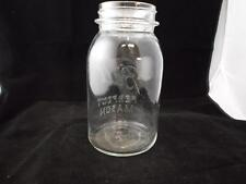 Old Vintage Mason Jar 7 inch tall the number 10 on bottom